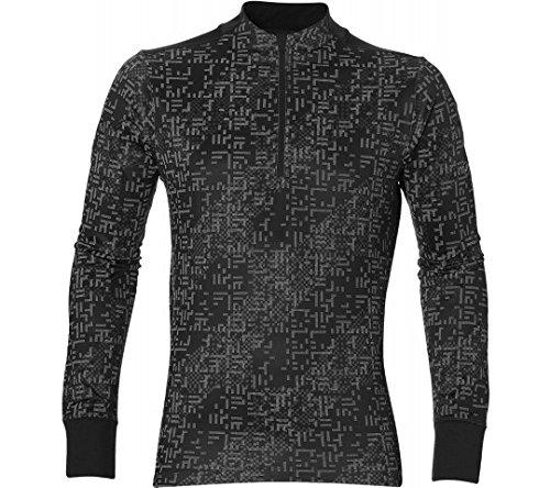 asics Lite-Show LS Half-Zip Men lite stripe performance black Größe L 2017 Laufshirt langarm (Ls-laufshirt)