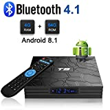 Android 8.1 TV Box, T9 Android Box con 4 GB di RAM 64 GB ROM RK3328 Processore quad-core Cortex-A53 Bluetooth 4.1 2.4Ghz/5.0Ghz WiFi Supporta 4k2k Ultra H.265 Smart Set-Top TV Box