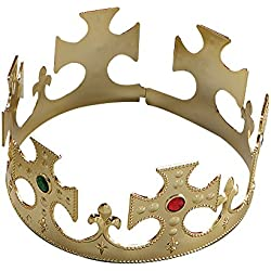 Gold Plastic Kings Crown Fancy Dress Accessory (gorro/sombrero)