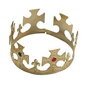 Gold Plastic Kings Crown Fancy Dress Accessory (gorro/sombrero)