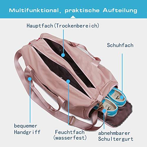 FEDUAN Damen Sport- & Reisetasche, Schwarz - 4