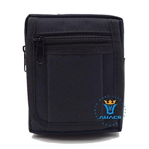 Multifunktions Survival Gear Tactical Beutel MOLLE Tasche Täglich tragen Tactical Waist Pack, Outdoor Camping Tragbare Travel Bags Handtaschen Tool Taschen Taille Tasche Handytasche BK