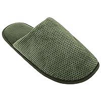 Pierre Roche Mens Waffle Pattern Mule Slippers (UK Shoe 10, EUR 43) (Green)