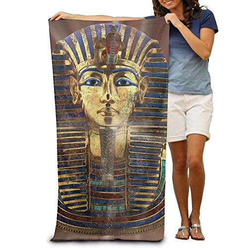 Roi Pharaon Toutankhamon Égypte Tuto Cadeau Égyptien Adultes Fibre Douceur maximale et Pouvoir Absorbant Serviette Plage/Bain/Piscine 80x130cm