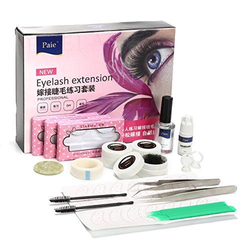 EgBert Extension De Cils Kit De Greffe Porte-Colle Brucelles Baguettes Mascara Ensemble De Formation De Salon De Beauté
