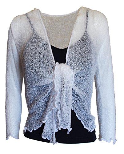 EeZeeCat Da donna, in maglia Greenhouses Coprispalle/Bolero top–see Massive gamma di colori WHITE LARGE (14-22)