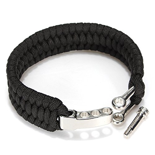 LaDicha 7 Stränge Paracord Armband Schnur Schnur Hand Ring Mit Quick Release Schäkel Schnalle Für Survival-Schwarz