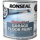 Ronseal DHGFPSL5L Vernice per pavimento garage Diamond Hard, 5 L, colore ardesia