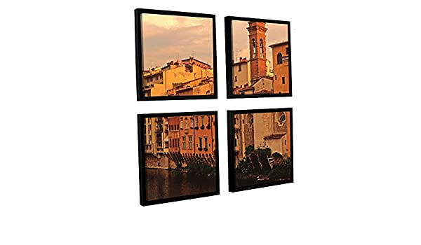 ArtWall Kathy Yates Florence Charm 4-Piece Floater Framed Canvas Artwork 48 by 48