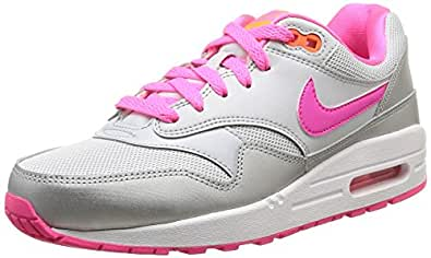 Nike Air Max 1 (Gs), Men's Trainers, Silver & Pink, 4.5 UK / 37.5 EU