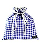 Mod Straps Blue Gingham Drop in Pouch