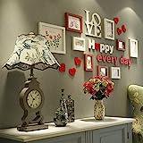 ANDEa Carta da soggiorno Foto parete camera da letto struttura in legno massiccio sfondi creativi Portfolio regali di nozze Cornici ( colore : B )