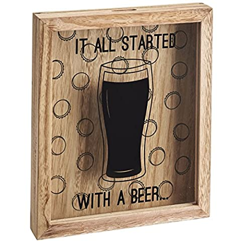 Wooden Wine Cork / Beer Bottle Cap 3D Collection Party