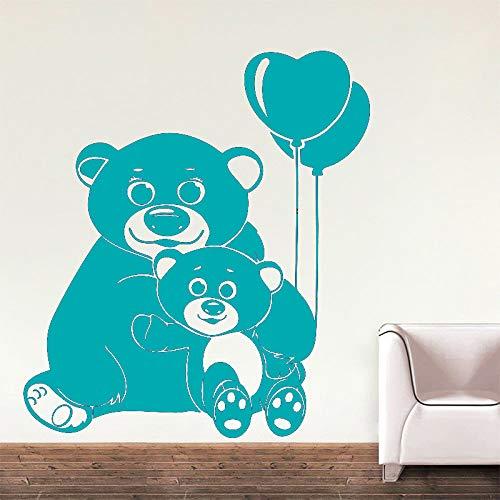 guijiumai Autoadesivo della Parete del Vinile di 40 Colori per la Camera dei Bambini Modello dell'orso Decalcomania della Parete Rimovibile Salone Decorazione della Salone Z 3 42x47CM