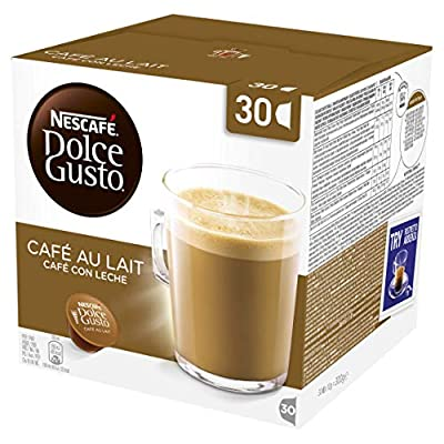 Nescafé Dolce Gusto Cafe au Lait Coffee Pods, 30 Capsules (30 Servings)