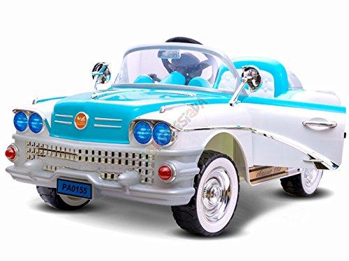 ELEKTROAUTO KINDER AUTO CADILAC ( BLAU ) 2 x 45W Motor + 1 x wiederaufladbare Batterie (12V 7Ah) + PILOT für Eltern 2.4Ghz. / Perfekt für Geschenk