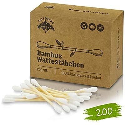 Bambus Wattestäbchen 200 Vegan