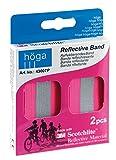 Höga Reflektierendes-Band, pink, Länge 32 cm, Breite 4 cm mit Klettverschluss, 2 Stück