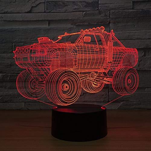 3D Nachtlicht Sportwagen bunte visuelle Stereo-LED 3D Licht Acryl Licht Fernbedienung Touch visuelle Atmosphäre Licht Kinder Geschenk Brille ## 2