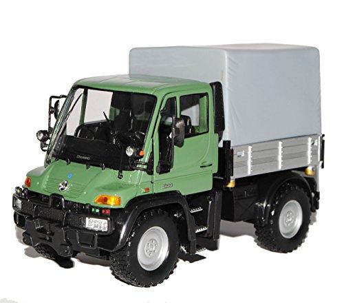 Preisvergleich Produktbild Mercedes-Benz Unimog U400 Grün LKW Truck 1/32 Welly Modell Auto mit individiuellem Wunschkennzeichen