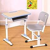 Rart Schule Schreibtisch Stuhl Set,Kinder Lernen Schreibtisch Ergonomische Kinder Studientabelle Verstellbarer Schreibtisch-bietet Richtigen Winkel Zum Lesen Lernen-Blau 65x45cm(26x18inch)