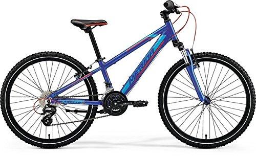 Unbekannt Kinder Fahrrad 24 Zoll blau - Merida MATTS J24 Mountainbike - Shimano Schaltung 16 Gänge