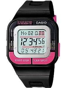 Casio - SDB-100-1BEF - Montre Femme - Quartz Digital - Cadran Multicolore - Bracelet Résine Noir