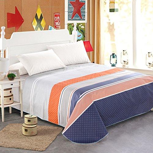 LINGZHIGAN Blau Orange Grau Streifen Muster Bettwäsche Einzelstück Baumwolle Herbst und Winter Single oder Double 1.2m 1.5m 1.8m Bett Modern Simple Bed Sheet (größe : 250 * 230cm)