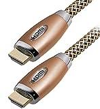 Ultra HD Premium 4K HDMI Cavo 2160p 3d ad alta velocità ethernet TV PC PS4XBOX proiettore–MaxTrack High End Retro Gold Serie 2meter
