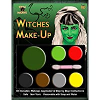 New Witch Ladies Girls Make Up Halloween Makeup Make-Up Face Paint Zombie Vampire Witch Devil Green Red Yellow Black