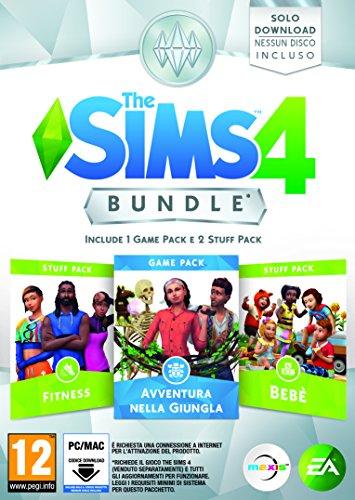 The Sims 4 - Bundle Pack 4: Fitness, Avventura nella Giungla e Bebè - Codice Digitale nella Confezione - PC