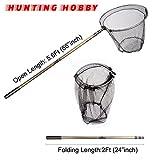 #9: Fishing Landing Net, Round Folding, Extention 4Feet Rod