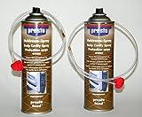 Sparpack ! Presto Fond Hohlraum-Versiegelungs-Wax-Spray, 2x500ml, jeweils mit Sprühsonde, 60 cm, 360Grad Sprühwinkel