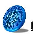 Bigtree Air stabilità equilibrio cuscino Balance Board con pompa per yoga, palestra 33cm blu 【 】