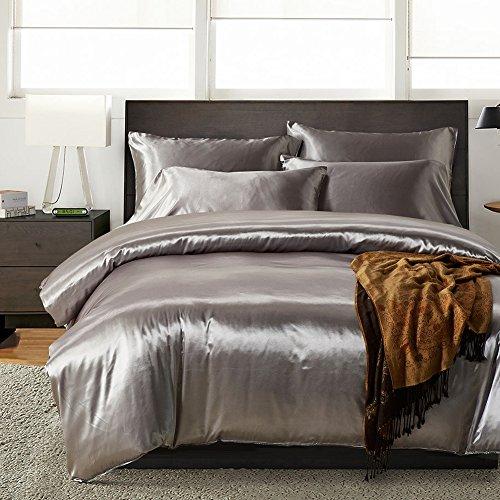 Bettwäsche-paket (xingwenxue Textile Heimtextilien dreiteilige einfarbige Seide Bettwäsche-Paket)