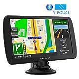 AWESAFE 9 Pouce Appareil de Navigation Automatique pour Voiture Fonction Mains Libres avec écran Tactile GPS Système...
