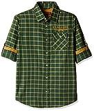 US Polo Boys' Shirt (UJSH5492_Melange Green_M FS)