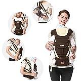 mochila portabebés ergonómico transpirable bebé Kangaroo Hipseat Infant Mochila infantil Sling con taburete de cintura Carrier A1