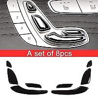 Tianrui Crown For Merceds Bez E Class W213 E200 E300 GLC C Class W205 ABS Gloss Black Seat Button Sequins 2 Styles (8PCS)