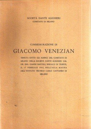 COMMEMORAZIONE DI GIACOMO VENEZIAN