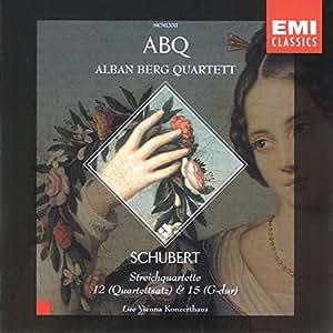 """Schubert : Quatuors à cordes n° 12 """"Quartettsatz"""" et n° 15"""
