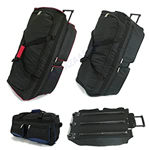 Extra Large Wheeled Holdall Travel Suitcase Luggage Duffle Bag XXL Extra Large Medium Small Suitcase