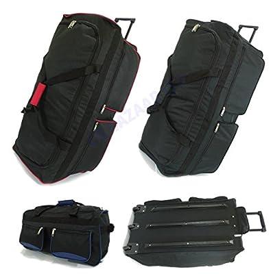 Extra Large Wheeled Holdall Travel Suitcase Luggage Duffle Bag XXL Extra Large Medium Small Suitcase