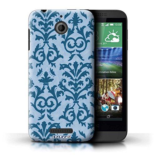 Kobalt® Imprimé Etui / Coque pour HTC Desire 510 / Pourpre conception / Série Motif de défilement Bleu