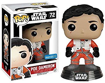Star Wars Pop The Force Awakens - Po Dameron Without Helmet #72 Bobble-Head Figure