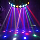 Discokugel LED Party Lampe Beleuchtung 4 Farben DJ Licht Disco Party Lichter Musik und Stimme Steuerung Bühnenbeleuchtung Effektlicht für Weihnachten Party Deko Club Bar Geburtstag Urlaub Dekoration