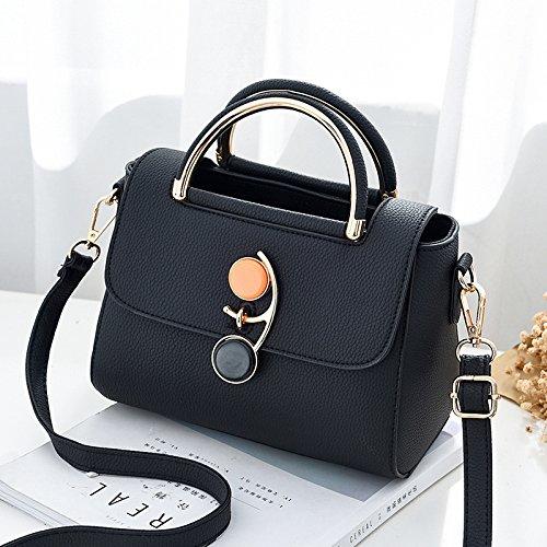 Pacchetto LiZhen femmina nuovo pacchetto di piccole dimensioni di semplici borse alla moda, spalla Borsa donna casual package, nero Nero