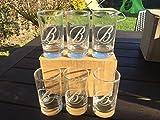6Stück Glas Hat Whisky Ballantines 17cl Wunderschöne NEU