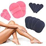 14Pc Exfoliating Hair Removal Pads + Carry Case | Face Leg Arm Underarm