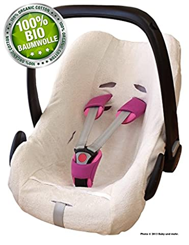 Byboom – 100% Organic Cotton Terry Car Seat Summer Cover, Protective Cover for e.g. Maxi Cosi Cabriofix/Pebble City SPS Farbe: